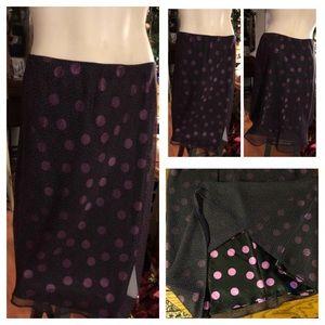 Black & Purple Polka-Dot Skirt